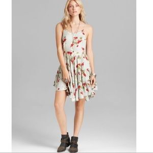 Circle of Flowers Blue floral slip dress